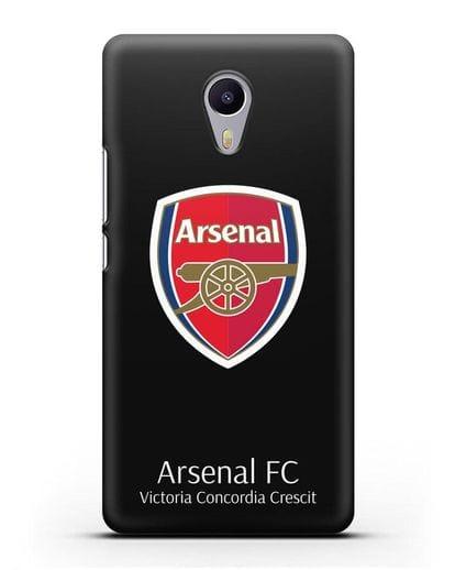 Чехол с логотипом ФК Арсенал Лондон силикон черный для MEIZU M3 Note