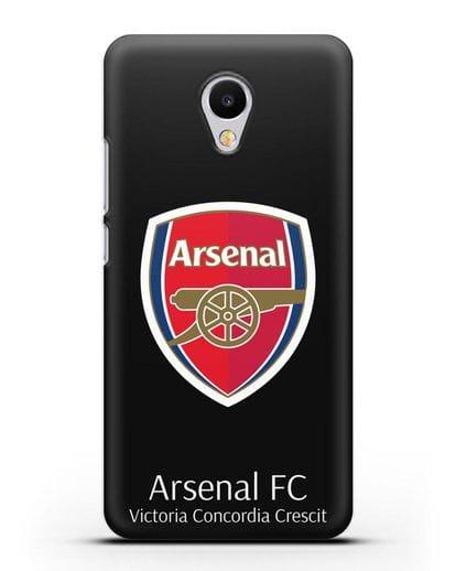 Чехол с логотипом ФК Арсенал Лондон силикон черный для MEIZU M3s mini