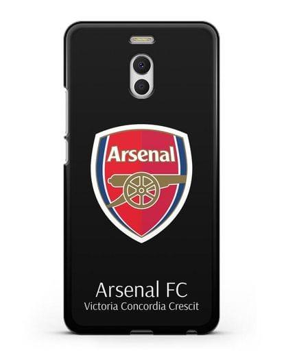 Чехол с логотипом ФК Арсенал Лондон силикон черный для MEIZU M6 Note