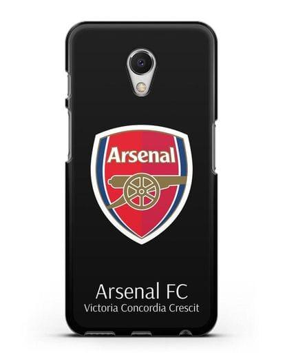 Чехол с логотипом ФК Арсенал Лондон силикон черный для MEIZU M6s