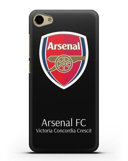 Чехол с логотипом ФК Арсенал Лондон силикон черный для MEIZU U10