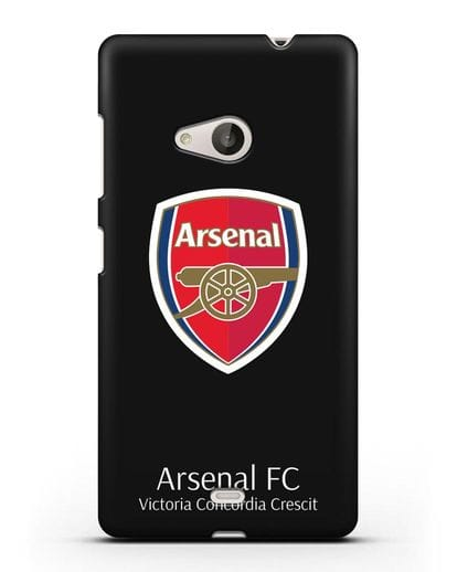 Чехол с логотипом ФК Арсенал Лондон силикон черный для Microsoft Lumia 535