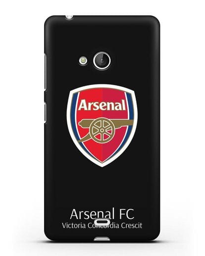 Чехол с логотипом ФК Арсенал Лондон силикон черный для Microsoft Lumia 540