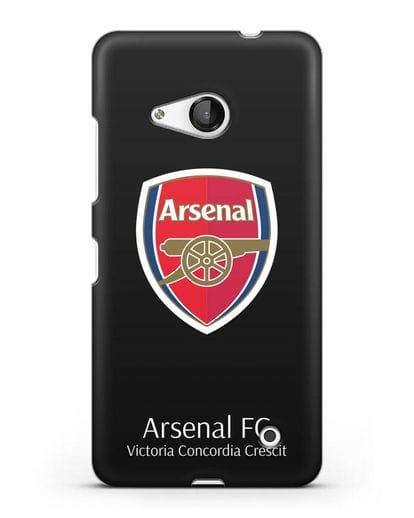 Чехол с логотипом ФК Арсенал Лондон силикон черный для Microsoft Lumia 550