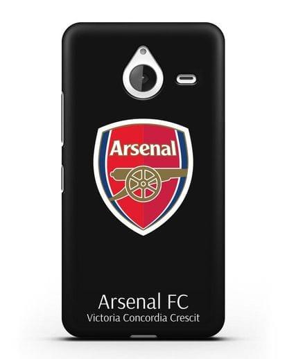 Чехол с логотипом ФК Арсенал Лондон силикон черный для Microsoft Lumia 640 XL