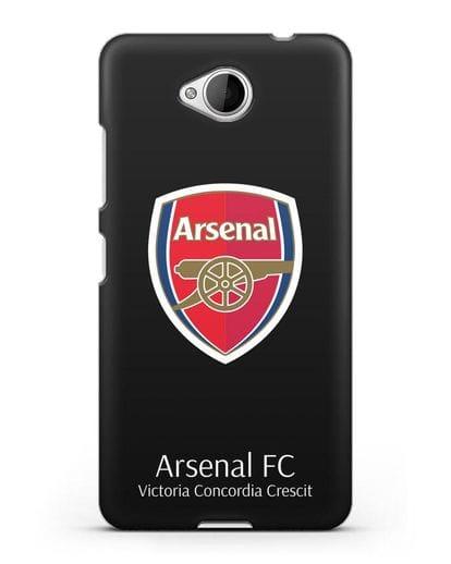 Чехол с логотипом ФК Арсенал Лондон силикон черный для Microsoft Lumia 650