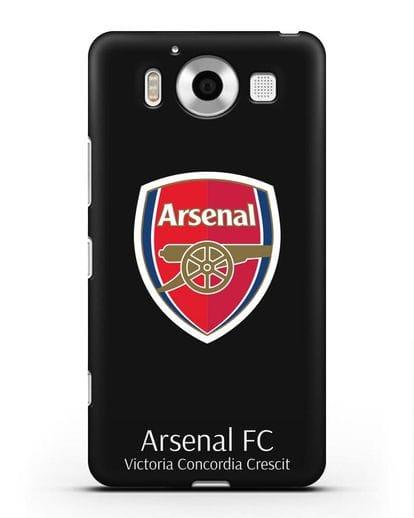 Чехол с логотипом ФК Арсенал Лондон силикон черный для Microsoft Lumia 950