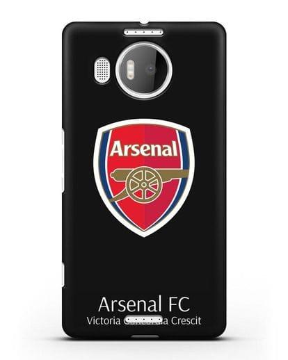 Чехол с логотипом ФК Арсенал Лондон силикон черный для Microsoft Lumia 950 XL