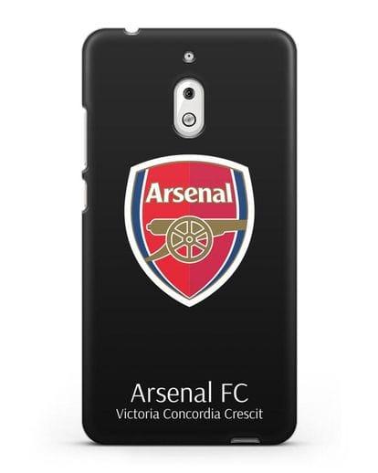 Чехол с логотипом ФК Арсенал Лондон силикон черный для Nokia 2.1