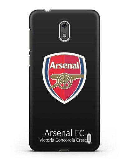 Чехол с логотипом ФК Арсенал Лондон силикон черный для Nokia 2