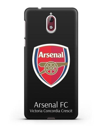 Чехол с логотипом ФК Арсенал Лондон силикон черный для Nokia 3.1