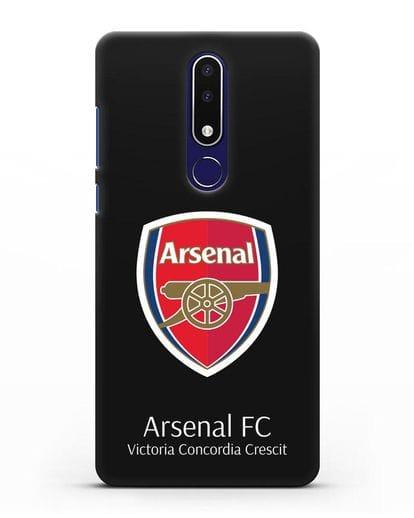 Чехол с логотипом ФК Арсенал Лондон силикон черный для Nokia 3.1 plus