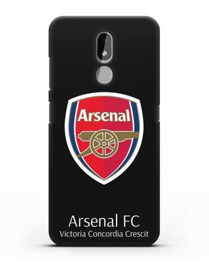 Чехол с логотипом ФК Арсенал Лондон силикон черный для Nokia 3.2 2019