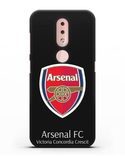 Чехол с логотипом ФК Арсенал Лондон силикон черный для Nokia 4.2 2019