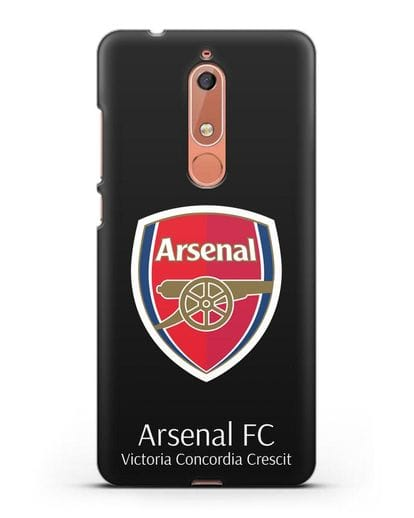 Чехол с логотипом ФК Арсенал Лондон силикон черный для Nokia 5.1