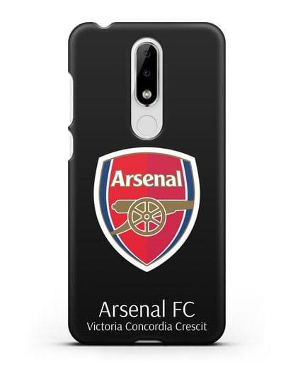 Чехол с логотипом ФК Арсенал Лондон силикон черный для Nokia 5.1 plus