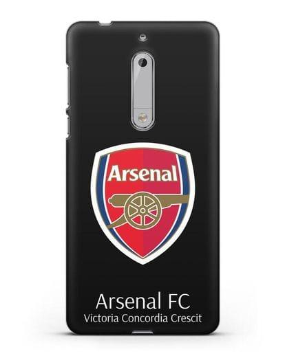 Чехол с логотипом ФК Арсенал Лондон силикон черный для Nokia 5