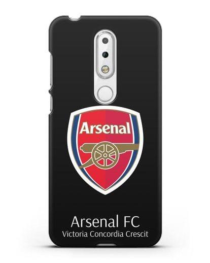 Чехол с логотипом ФК Арсенал Лондон силикон черный для Nokia 6.1 plus
