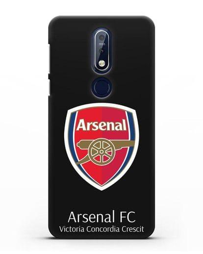 Чехол с логотипом ФК Арсенал Лондон силикон черный для Nokia 7.1