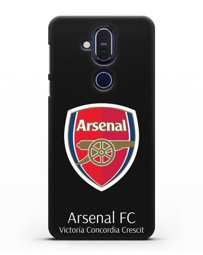 Чехол с логотипом ФК Арсенал Лондон силикон черный для Nokia 7.1 plus