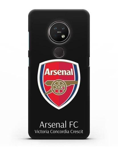 Чехол с логотипом ФК Арсенал Лондон силикон черный для Nokia 7.2