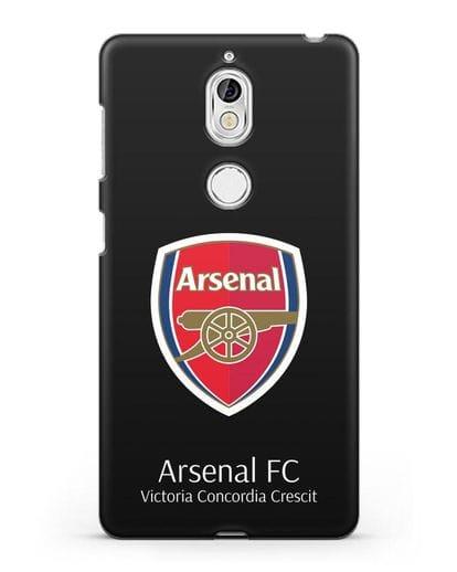 Чехол с логотипом ФК Арсенал Лондон силикон черный для Nokia 7