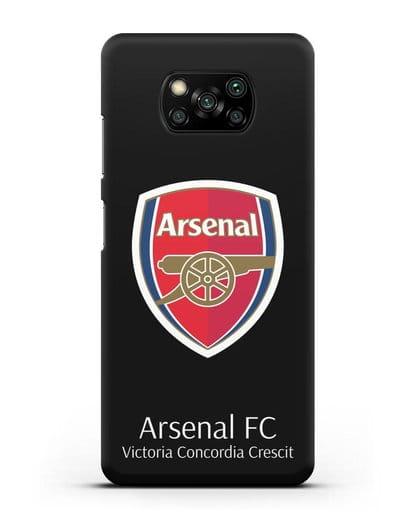 Чехол с логотипом ФК Арсенал Лондон силикон черный для Xiaomi Poco X3