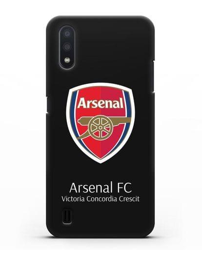 Чехол с логотипом ФК Арсенал Лондон силикон черный для Samsung Galaxy A01 [SM-A015F]
