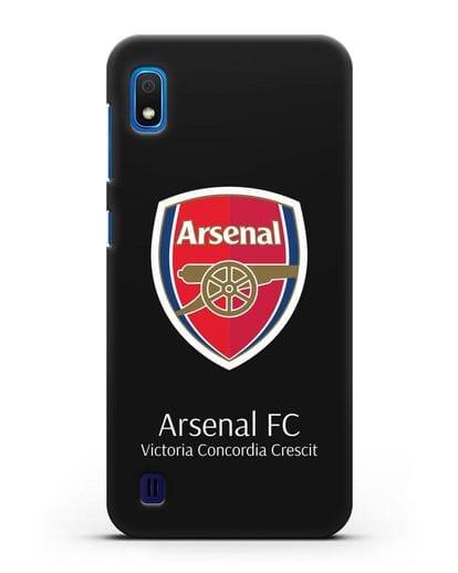 Чехол с логотипом ФК Арсенал Лондон силикон черный для Samsung Galaxy A10 [SM-A105F]