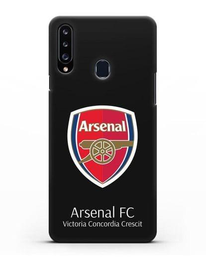 Чехол с логотипом ФК Арсенал Лондон силикон черный для Samsung Galaxy A20s [SM-A207FN]