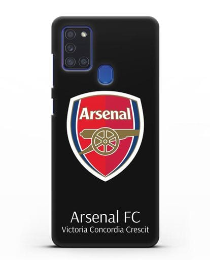 Чехол с логотипом ФК Арсенал Лондон силикон черный для Samsung Galaxy A21s [SM-A217F]