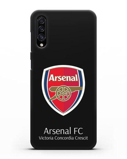 Чехол с логотипом ФК Арсенал Лондон силикон черный для Samsung Galaxy A30s [SM-A307FN]
