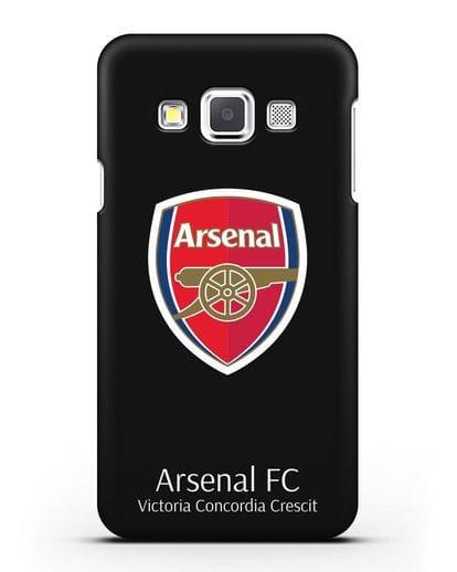 Чехол с логотипом ФК Арсенал Лондон силикон черный для Samsung Galaxy A3 2015 [SM-A300F]