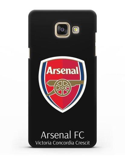Чехол с логотипом ФК Арсенал Лондон силикон черный для Samsung Galaxy A3 2016 [SM-A310F]