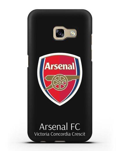Чехол с логотипом ФК Арсенал Лондон силикон черный для Samsung Galaxy A3 2017 [SM-A320F]