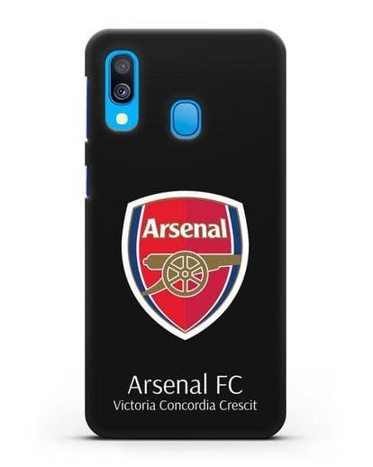 Чехол с логотипом ФК Арсенал Лондон силикон черный для Samsung Galaxy A40 [SM-A405F]