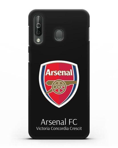Чехол с логотипом ФК Арсенал Лондон силикон черный для Samsung Galaxy A40s [SM-A507FN]