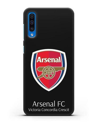 Чехол с логотипом ФК Арсенал Лондон силикон черный для Samsung Galaxy A50 [SM-A505F]