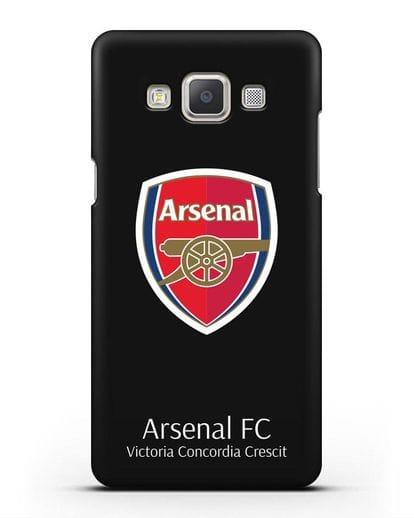 Чехол с логотипом ФК Арсенал Лондон силикон черный для Samsung Galaxy A5 2015 [SM-A500F]
