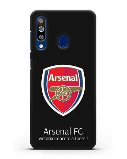 Чехол с логотипом ФК Арсенал Лондон силикон черный для Samsung Galaxy A60 [SM-A606F]
