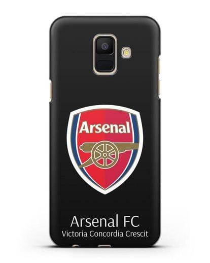 Чехол с логотипом ФК Арсенал Лондон силикон черный для Samsung Galaxy A6 2018 [SM-A600F]