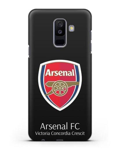 Чехол с логотипом ФК Арсенал Лондон силикон черный для Samsung Galaxy A6 Plus 2018 [SM-A605F]