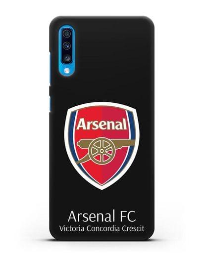 Чехол с логотипом ФК Арсенал Лондон силикон черный для Samsung Galaxy A70 [SM-A705F]