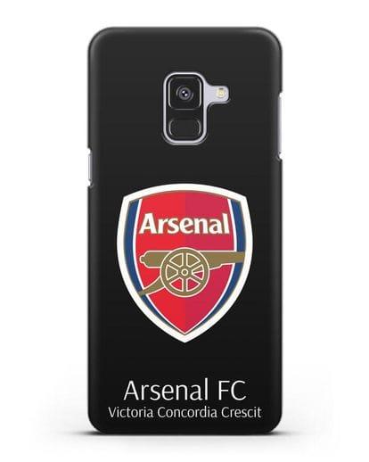 Чехол с логотипом ФК Арсенал Лондон силикон черный для Samsung Galaxy A8 [SM-A530F]