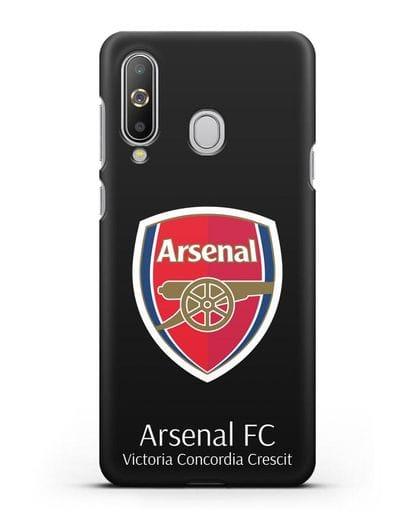Чехол с логотипом ФК Арсенал Лондон силикон черный для Samsung Galaxy A8s [SM-G8870]