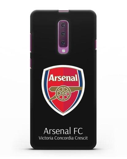 Чехол с логотипом ФК Арсенал Лондон силикон черный для Samsung Galaxy A90 [SM-A908N]