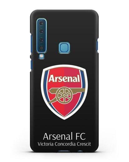 Чехол с логотипом ФК Арсенал Лондон силикон черный для Samsung Galaxy A9 (2018) [SM-A920]