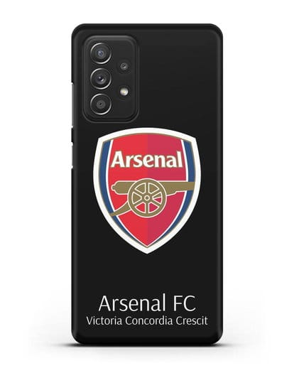 Чехол с логотипом ФК Арсенал Лондон силикон черный для Samsung Galaxy A52 [SM-A525F]