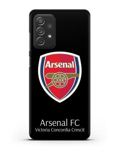 Чехол с логотипом ФК Арсенал Лондон силикон черный для Samsung Galaxy A72 [SM-A725F]