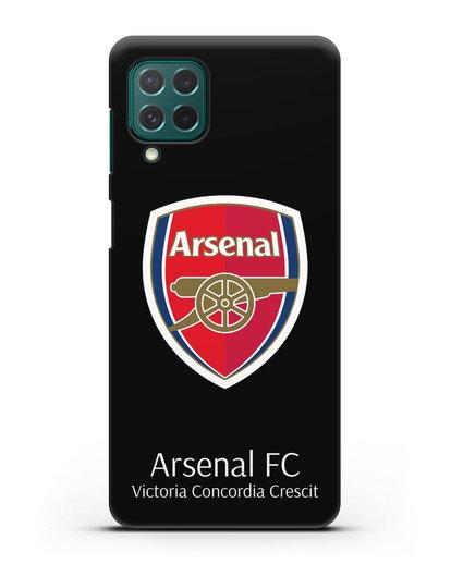 Чехол с логотипом ФК Арсенал Лондон силикон черный для Samsung Galaxy M62 [SM-M625F]